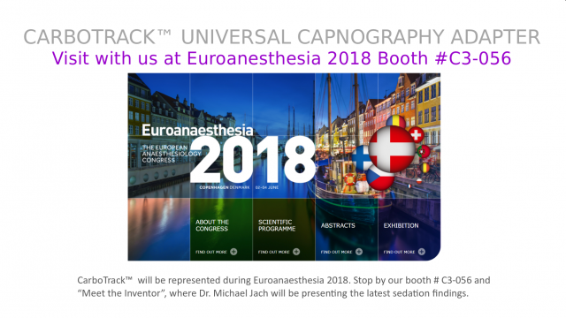 Visit with us at Euroanesthesia 2018 Booth #C3-056