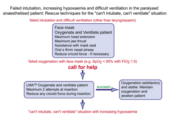 Intubation guidelines - Cannot Intubate, Cannot Ventilate